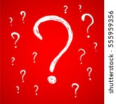 question mark hand drawn | Shutterstock .eps vector #555959356