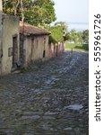 The cobbled stone streets of Colonia de Sacremento, Uruguay.