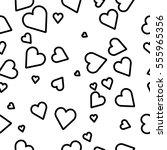 seamless hearts pattern | Shutterstock .eps vector #555965356