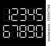 digital number. vector... | Shutterstock .eps vector #555967768