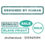 designed by human rubber seal... | Shutterstock .eps vector #555969394