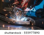 Welder In Mask Welding Metal...