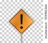 orange road sign | Shutterstock .eps vector #555981364