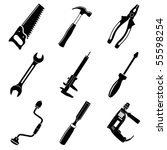 vector icons of tool | Shutterstock .eps vector #55598254