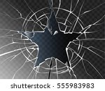 vector broken glass shattered... | Shutterstock .eps vector #555983983