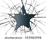 vector broken glass shattered... | Shutterstock .eps vector #555983998