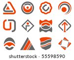 colored abstract design elements | Shutterstock .eps vector #55598590