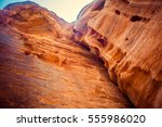 ancient rocks near al khazneh   ... | Shutterstock . vector #555986020