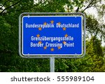 border crossing point to... | Shutterstock . vector #555989104