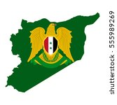 map of the syrian arab republic ...   Shutterstock . vector #555989269