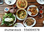 thai food  isan   spicy food ... | Shutterstock . vector #556004578