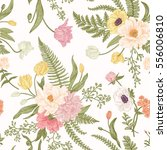 seamless floral pattern with... | Shutterstock .eps vector #556006810