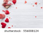 wooden white background with... | Shutterstock . vector #556008124
