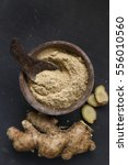 ginger root and ginger powder | Shutterstock . vector #556010560