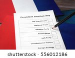 presidential election in french ... | Shutterstock . vector #556012186