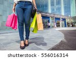 after day shopping. close up of ... | Shutterstock . vector #556016314