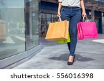 after day shopping. close up of ... | Shutterstock . vector #556016398