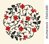 vector chinese ornament | Shutterstock .eps vector #55601680