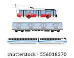 city road tram and trolleybus... | Shutterstock .eps vector #556018270