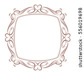 decorative frames with heart ... | Shutterstock .eps vector #556019698