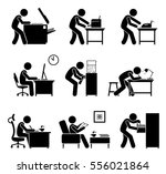 employees using office... | Shutterstock .eps vector #556021864