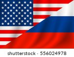 us russia flag | Shutterstock .eps vector #556024978