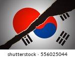 japan korea flag | Shutterstock .eps vector #556025044