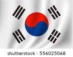 korea flag | Shutterstock .eps vector #556025068