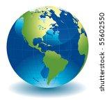 world globe   editable vector... | Shutterstock .eps vector #55602550
