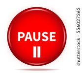Pause Button Isolated. 3d...
