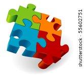 Stock vector puzzle vector 55602751