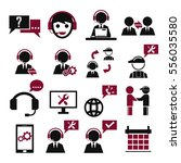 support  service icon set | Shutterstock .eps vector #556035580