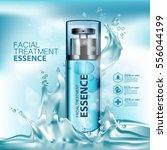 facial treatment essence skin... | Shutterstock .eps vector #556044199