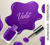 set of color nail polish  ... | Shutterstock .eps vector #556049224