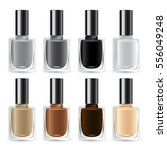 set of color nail polish  ... | Shutterstock .eps vector #556049248