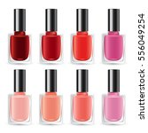 set of color nail polish  ... | Shutterstock .eps vector #556049254