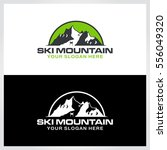 ski mountain logo template.... | Shutterstock .eps vector #556049320