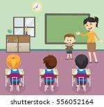 illustration of  students boy... | Shutterstock . vector #556052164