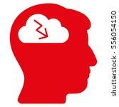 brainstorming vector pictogram. ... | Shutterstock .eps vector #556054150