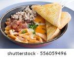 american breakfast contain egg  ... | Shutterstock . vector #556059496