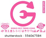 pink repeat service pictograph... | Shutterstock .eps vector #556067584