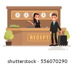 registration of a hotel room.... | Shutterstock .eps vector #556070290