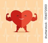 healthy heart. | Shutterstock .eps vector #556072003