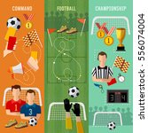 soccer banner  football team ... | Shutterstock .eps vector #556074004