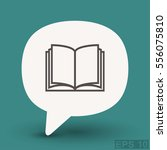 pictograph of book | Shutterstock .eps vector #556075810