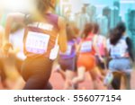 blurred image of women marathon ... | Shutterstock . vector #556077154
