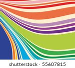 warped stripes in retro colors | Shutterstock .eps vector #55607815