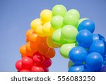 balloon in the blue sky on the... | Shutterstock . vector #556083250