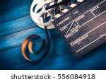 35mm film  reel and movie... | Shutterstock . vector #556084918