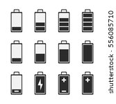 battery icons. symbols of...   Shutterstock .eps vector #556085710